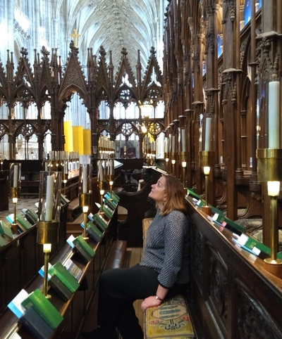 Tracy in choir stalls